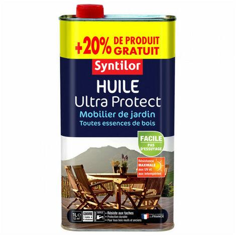 Huile Ultra Protect mobilier de jardin 1L+20% SYNTILOR (naturel) - Teinte : Naturel