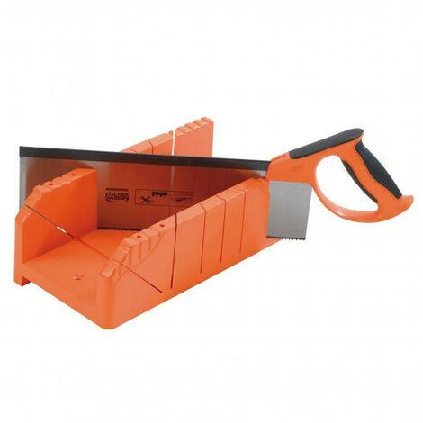 Boîte à onglet pour plinthes polystyrène + scie à araser