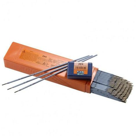 Electrode inoxydable 29/9 SELECTARC (2,50 x 300 - 12) - Dimensions Ø x Long. mm : 2,50 x 300 - Nb par étui : 12