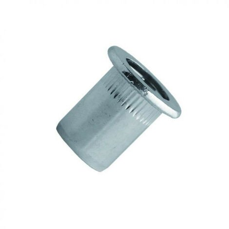 Écrou aveugle cranté à tête plate acier TCD (boîte) SCELL-IT (8 - 16 - 100) - Ø mm : 8 - Long. mm : 16