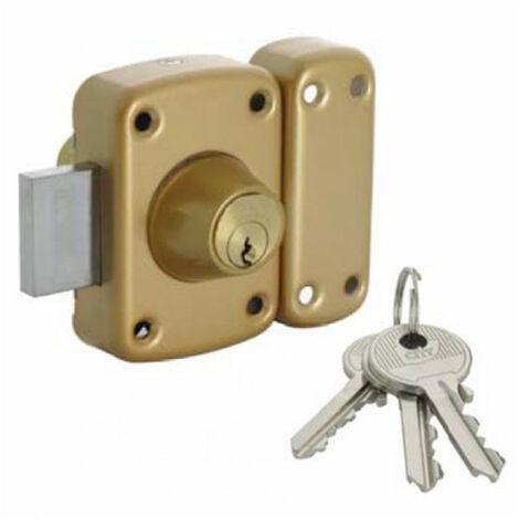 Verrou de sûreté à 2 entrées Iséo-City 160 s'entrouvrant (3 clés) Iséo - Cylindre: 45 mm