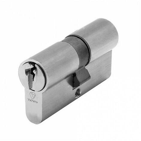Cylindre symétrique V5 nickelé (3 clés) VACHETTE (35 x 35 mm) - Dimensions : 35 x 35 mm