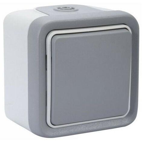 Interrupteur va-et-vient Plexo - gris LEGRAND - Nombre d'interrupteurs: 1