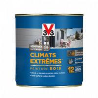 Peinture bois Climat Extrême Satin 0,5L (teinte au choix) V33 - Ton: Rouge ombre