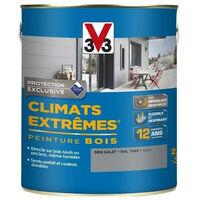 Peinture bois satin climat extrême 2,5L - Ton: Gris anthracite