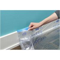 Recharge bâche Pré-adhésivée de Taille XL ScotchBlue 22,8m x 1829mm transparent