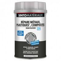 Résine polyester - répare métaux, plastiques, composites - 550g ou 1100g - SINTO - Contenance: Pot de 1.1kg