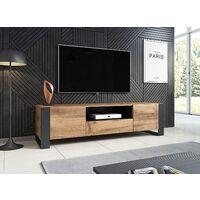 Meuble TV NUNKI 180 cm WOTAN CHENE ANTHRACITE - CHÊNE WOTAN ANTHRACITE