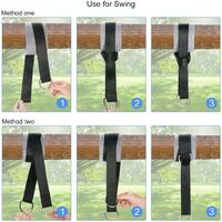 SOEKAVIA Straps for Outdoor Hammocks, Length 150 cm With Hanging Straps for Swings / Tree Guards, Locking Capacity Up to 550 kg