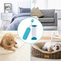 SOEKAVIA Pet Cat & Dog Hair Brush - Reusable Magic Cleaning Brush Hair Remover - Magic Pet Hair Brush Dog & Cat Cleaning (Clothes / Sofa / Car / Bed), Blue