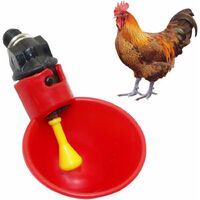 SOEKAVIA Set of 3 automatic drinkers for chicks, quails, ducks and other poultry