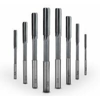 SOEKAVIA 8 Pieces H8 Reamer Standard HSS Reamer Durable Milling Cutter Machine 3/4/5/6/7/8/9 / 10MM
