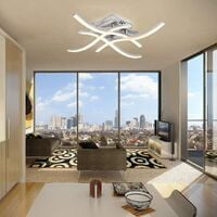 Modern LED Ceiling Light, Wave Shaped Ceiling Light, Integrated 24W LED Modules, 4x380Lm, Warm White 3000K, Suspension Light For Bedroom Living Dining Room [Energy Class A ++]
