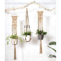 Macrame plant hanger Macrame hanger Cotton hanger Flower hanger Pot hanger Flower pot hanger 105cm, 4 legs Brown
