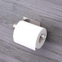 Toilet Roll Holder No Drilling, Self-Adhesive Toilet Roll Holder Stainless Steel Toilet Roll Holder Toilet Paper Holder Toilet Roll Holder Toilet Roll Holder Kitchen and Bathroom Paper Holder-B SOEKAVIA