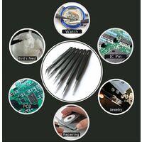 6PCS Antistatic Precision Tweezers Precision Tweezers Antistatic Stainless Steel Precision Pliers for Electronics, Watch and Clock Repair Jewelry Making SOEKAVIA