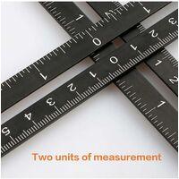 Multi-Angle Measuring Ruler, Aluminum Alloy, 12 Folding Rulers, Tile Drill Locator, Measuring Tool for DIYers, Builders, Carpenters, Tilers, Craftsmen SOEKAVIA