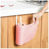 Kitchen roll holder to fix on a cupboard door and under a cupboard, 2 towel racks under a cupboard, without drilling for kitchen and bathroom SOEKAVIA