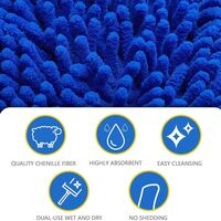 4 Pcs Car Wash Gloves, Chenille Microfiber Car Wash Gloves Cleaning Waterproof Microfiber Car Wash Gloves Without Scratch For Car Cleaning (Blue, Red) SOEKAVIA