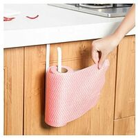 Paper towel dispenser under cabinet paper roll holder without drilling for kitchen bathroom SOEKAVIA