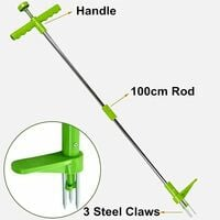 Weed Extractor, Rotary Telescopic Vertical Weed Killer Root Removal Tool, Manual Garden Weed Killer with 100cm Handle and Heavy Duty Foot Pedal SOEKAVIA