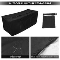 210D Oxford Fabric Large Garden Waterproof Storage Bag Patio Furniture Cushion Storage Bag Lightweight Zipper Holster (173 * 76 * 51cm) SOEKAVIA
