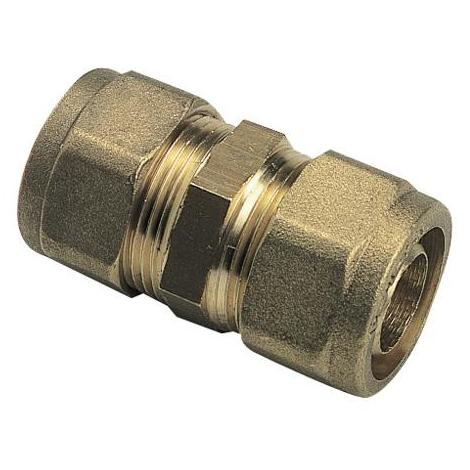 Raccord à compression tube PER Ø12 - Manchon égal - Somatherm