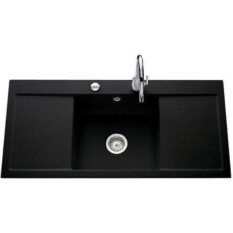 Évier de cuisine nigra FIRST CLASS - L 1060 x l 510 x P 200 mm - sous-meuble 50 cm - Aquatop