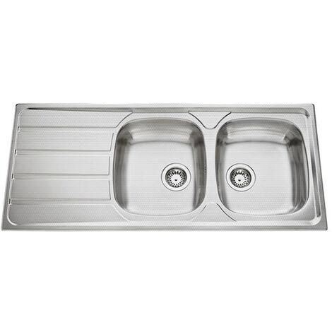 Évier de cuisine Inox mini-structure Montebello - L 1160 x l 500 x P 160 mm - sous-meuble 80 cm - Aquatop