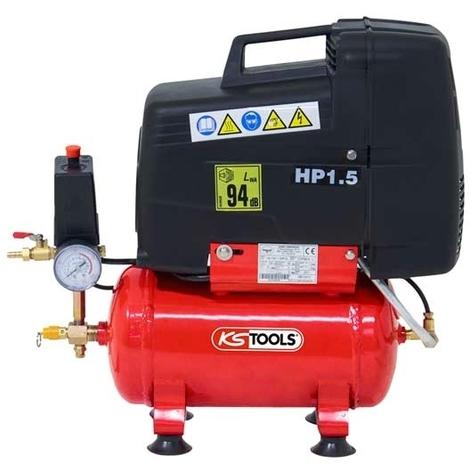 Compresseur à air sec 6 litres - 8 bars - 230V - KS Tools 165.0701