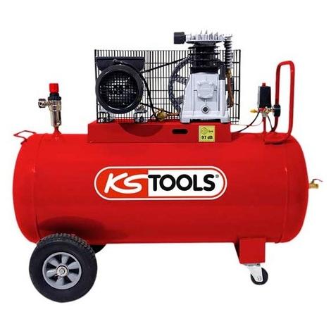 Compresseur d'air 100 litres - 10 bars - 3CV - 230V - KS Tools 165.0704