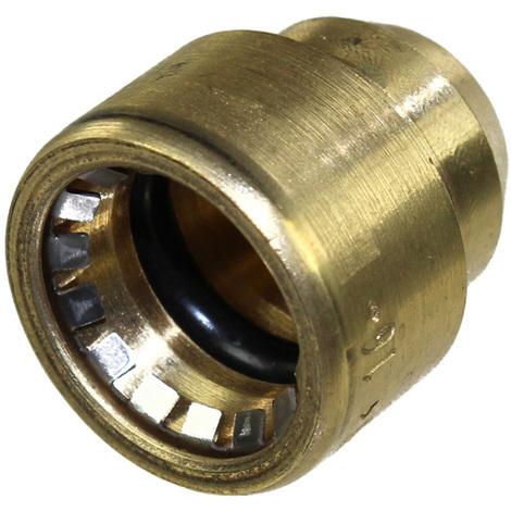 Raccord cuivre Push-Fit à clipser - Bouchon FF Ø16