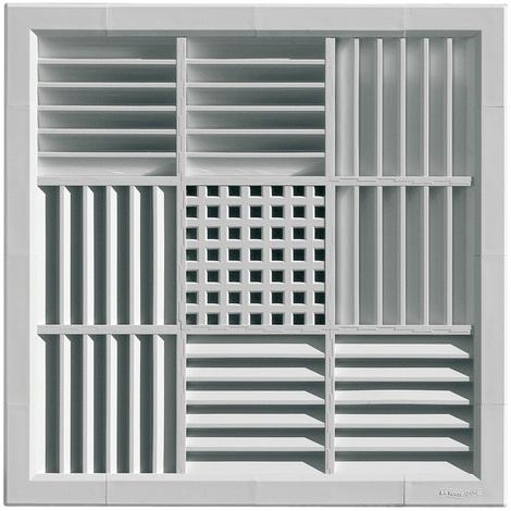 Grille ventilation carrée PVC pour faux-plafonds - 340x340mm - à encastrer