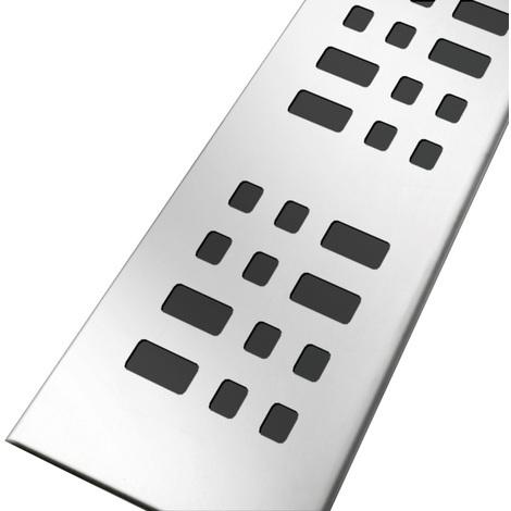 Grille inox 304 motifs carrés pour caniveau KSICAN40