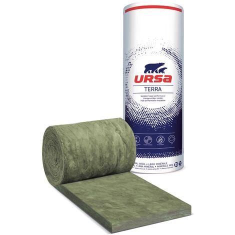 Rouleau laine de verre URSACOUSTIC TERRA nu 900mm - Ep. 45mm - 14,58m² - R 1.10