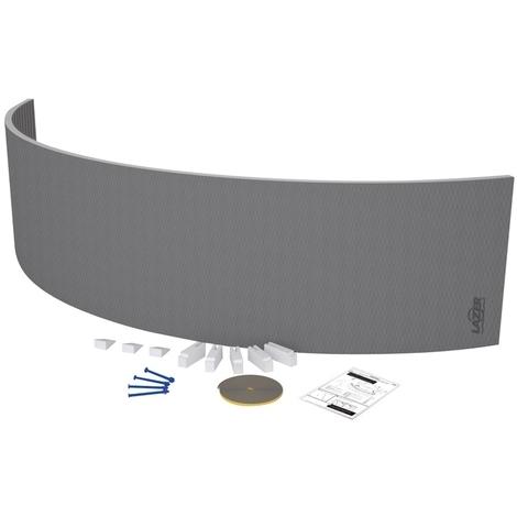 Tablier de baignoire courbe à carreler 30mm - 2200x600mm - Lazer 330500