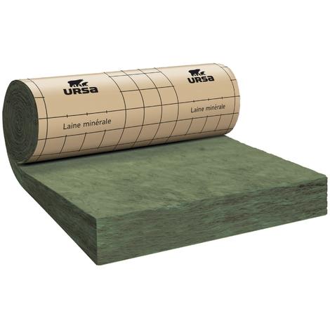 Rouleau laine de verre URSA MRK 40 TERRA revêtu kraft - Ep. 160mm - 6,60m² - R 4.0