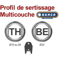 Sortie de cloison HENCO Douche/Bain Douche Multicouche à sertir Ø20x2.0 - Femelle 1/2 (15/21)
