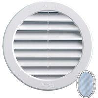 Grille ventilation PVC + moustiquaire - ExtØ224mm - Tube 200mm