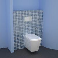 Easy Bati habillage universel pour WC bâti-support - Lazer 391011