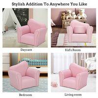 Children Single Sofa Kids Sofa Chair Bent Back -Pink - Pink