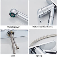 Copper Stainless Steel Kitchen Pull Chromeplate Faucet