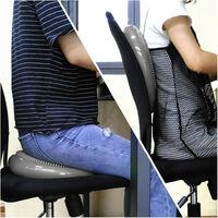 Coussin d'équilibre de gymnastique/ fitness anti-éclatement 2 faces D. 33 cm en PVC (Gris) + pompe de gonflage - D-Work