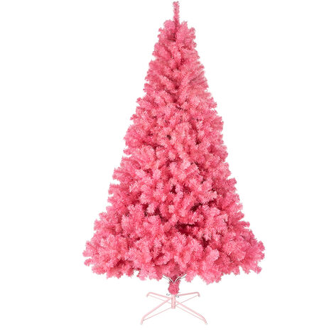 6ft Christmas Tree, Indoor Party Family Artificial Christmas Tree DIY Christmas Decoration Pink - Pink