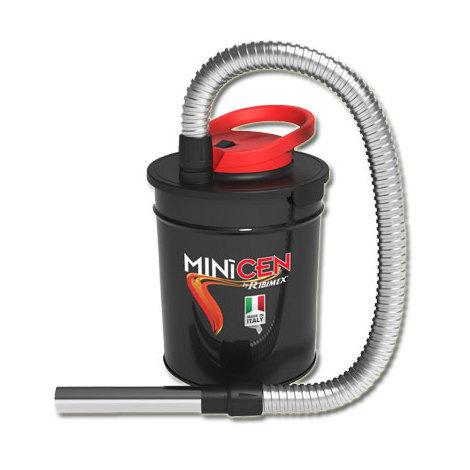 """Bidon vide cendres """"MINICEN"""" à moteur électrique 800W, 10L pour aspirer les cendres froides des cheminées, des poêles à bois ou à granulés"""