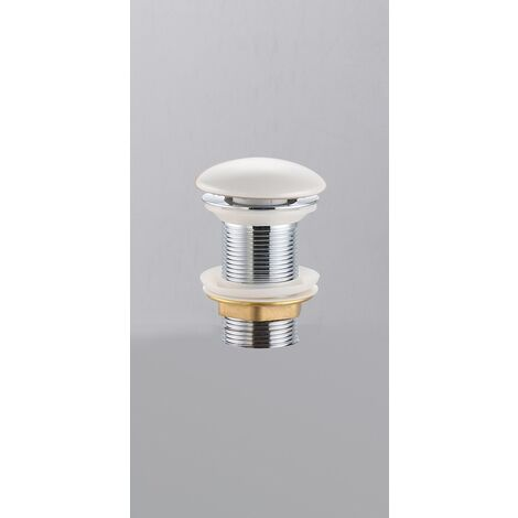 "Swiss Aqua Technologies Infinitio 5/4 ""clic clac drain without overflow for washbasins and basins, matt white (PZATKAWHM)"