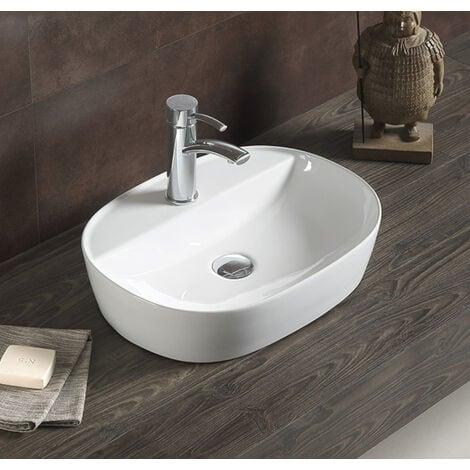 Swiss Aqua Technologies Countertop basin Infinitio 60 x 40 x 12,5 cm without overflow, white (SATINF6040)