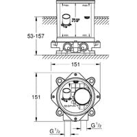 """Grohe ½"""" support plate (45984001)"""