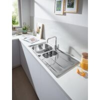 GROHE New K400 Stainless steel sink with drainer (31587SD0)