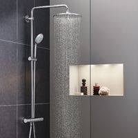 Grohe Euphoria System 260 Shower column with thermostatic mixer with 260mm XXL head and 3 jets (27296002)